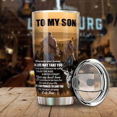 Wherever Your Journey In Life - Deer Dad To Son All Over Print