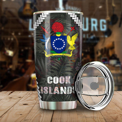 Cook Islands Chain Polynesian Pattern All Over Print Tumbler