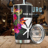 Hawaii Hibiscus Pattern Customer Name All Over Print Tumbler - luxamz