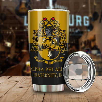 You can write your name with Alpha Phi Alpha Tumbler all over print Tumbler
