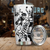 Boxing Men 3D Black and White Tumbler All Over Print