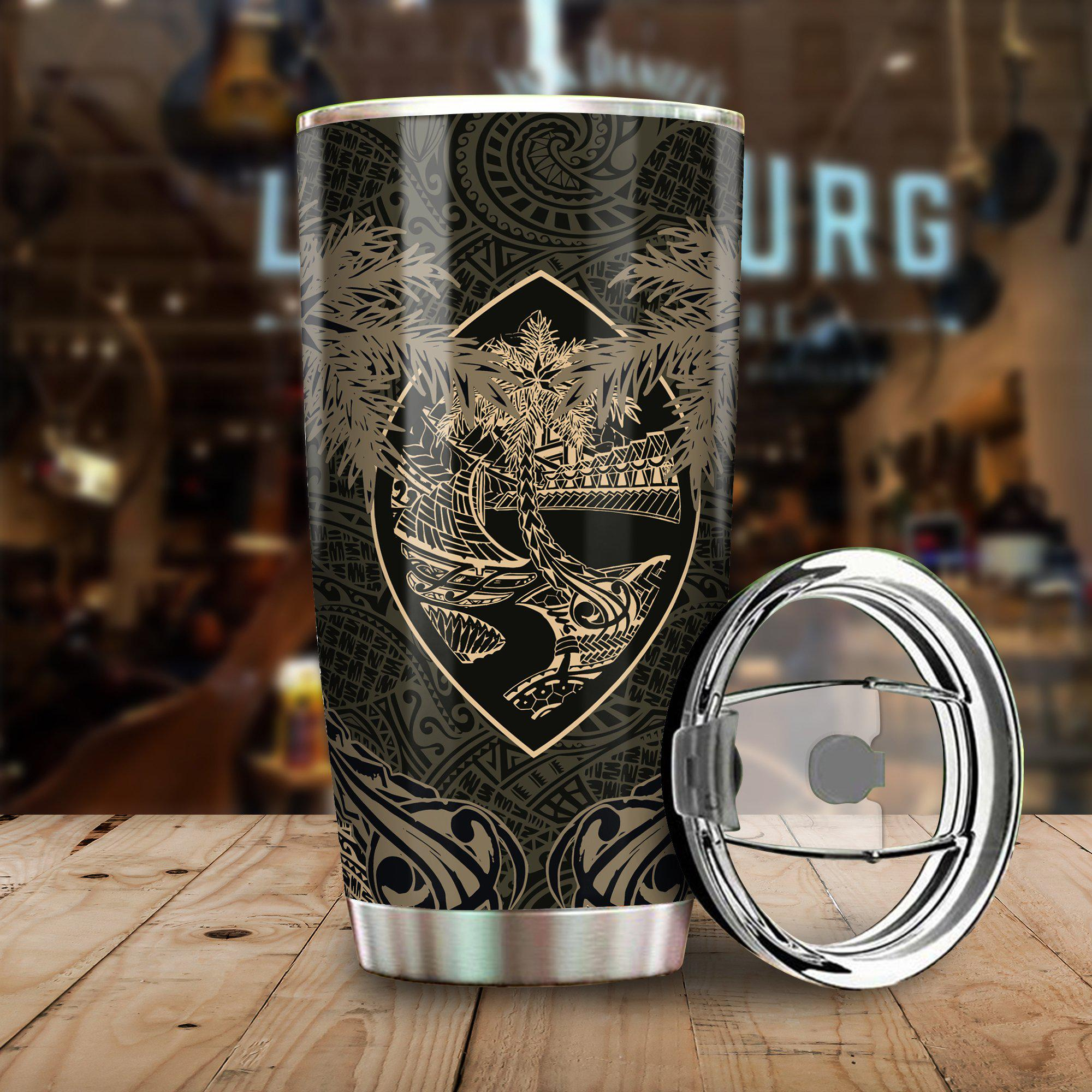 Guam Coat Of Arms Coconut All Over Print Tumbler - luxamz