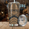 Hawaii Tribal New Warrior Style Polynesian Golden All Over Print Tumbler