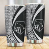 Hawaii Polynesian Tribal Circle Style White Color All Over Print Tumbler - luxamz