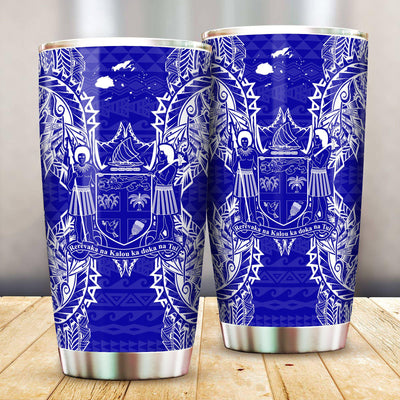 Polynesian Fiji Blue All Over Print Tumbler