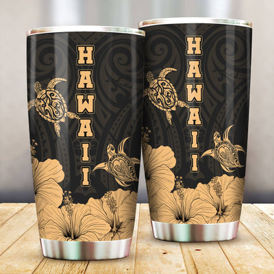 Hawaii Turtle Clothing Polynesian Hibiscus Art All Over Print Tumbler