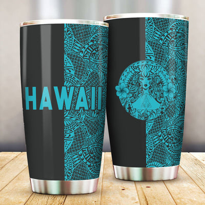 Polynesian Madame Pele Mauna Kea Hawaii The Half Blue All Over Print Tumbler