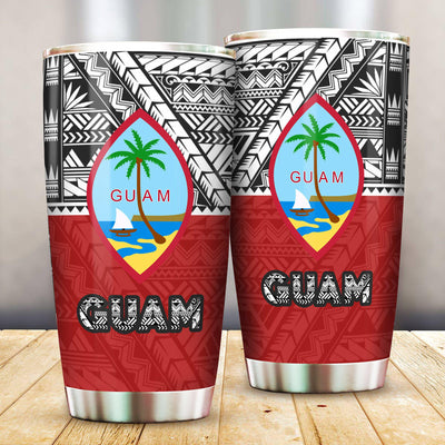 Guam Polynesian Style Pattern All Over Print Tumbler