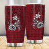 Samoa Polynesian Turtle with Hook Red  All Over Print Tumbler