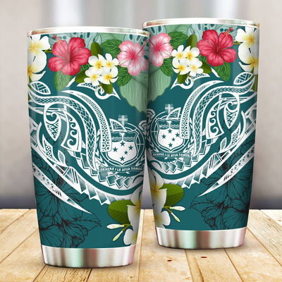 Samoa Polynesian Summer Plumeria All Over Print Tumbler