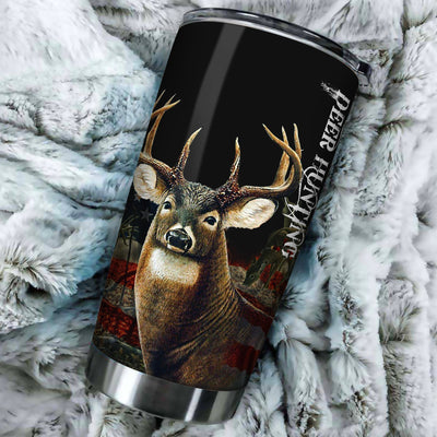 King Deer Hunting All Over Print Tumbler - luxamz