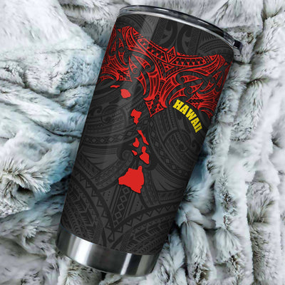 Polynesian Hawaii Polynesian Whale Tail All Over Print Tumbler