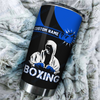Boxing King Crown 3D Blue Customize Name Tumbler All Over Print