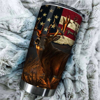 Deer Hunting All Over Print Tumbler - luxamz