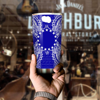 Polynesian Cook Islands Blue All Over Print Tumbler - luxamz
