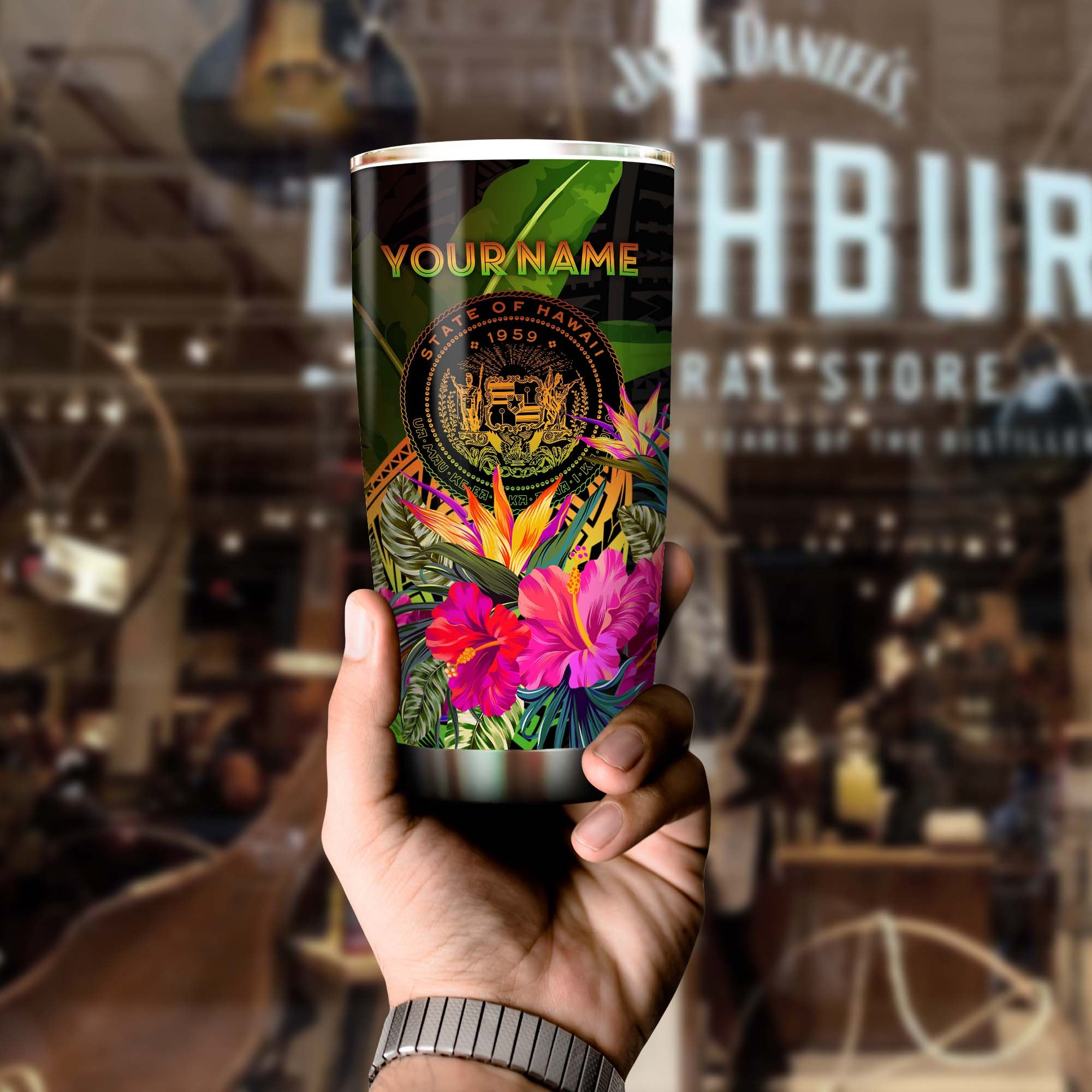 Polynesian Hawaii Polynesian - Hibiscus and Bana Tumbler All Over Print - luxamz
