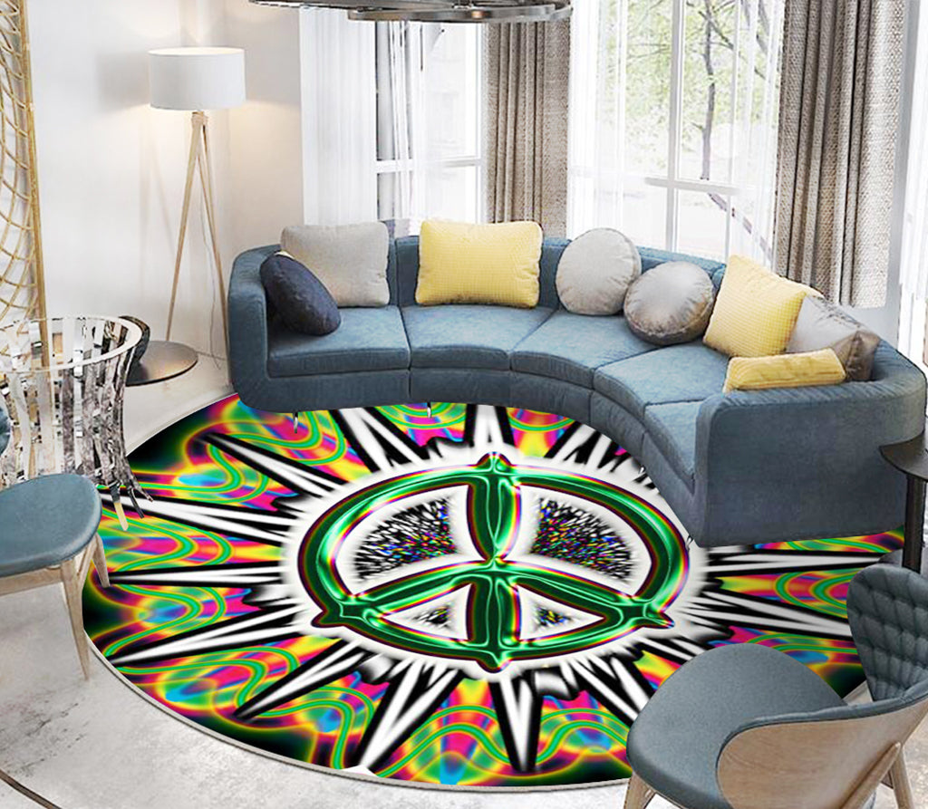 Hippie Rug Round Carpet All Over Print