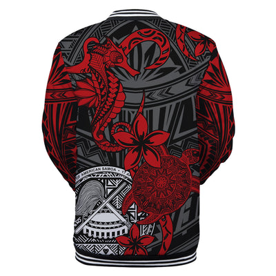 American Samoa Red Seahorse Turtle Floral Pattern All Over Print