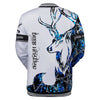 BLUE NEON DEER HUNTING LOVER ALL OVER PRINT SHIRT FOR MEN AND WOMEN