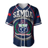 Samoa Sport Polynesian Coat Of Arms Gel Style Blue Baseball Jersey Shirt - luxamz