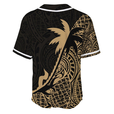Guam Coconut palm Gold tropical polynesians Baseball Jersey Shirt