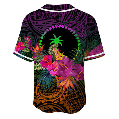 Chuuk Personalised Summer HibiscusBaseball Jersey Shirt - luxamz
