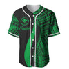 Hawaii T-Shirt Kanaka Maoli Green Polynesian Tentacle Tribal Pattern Baseball Jersey Shirt - luxamz