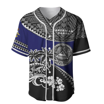 American Samoa Fall In The Wave Baseball Jersey Shirt