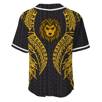 Cook islands Polynesian Lion Head Gold Style Baseball Jersey For Hot Summer