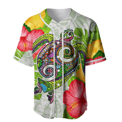 American Samoa Polo Shirt Fall In The Wave Polynesian Baseball Jersey Shirt - luxamz