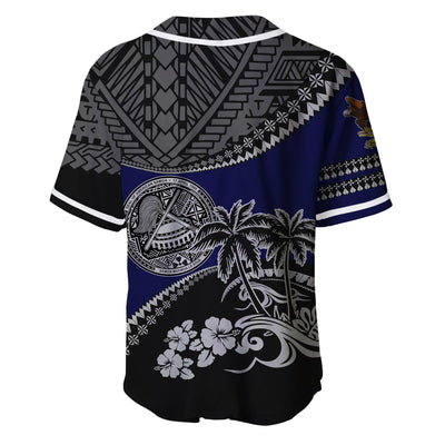 American Samoa Fall In The Wave Baseball Jersey Shirt - luxamz