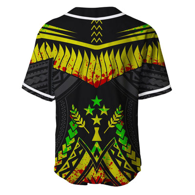 Cook Islands Tooth Shaped Necklace Texture Reggae Baseball Jersey Shirt