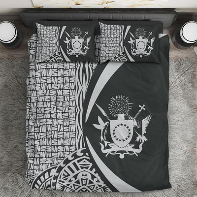 Cook Islands Polynesian Tribal Circle Style White Color Bedding Set All Over Printed - luxamz