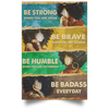 Black Queen Be Strong Be Brave Wall Art, Black Women Strong Poste - luxamz