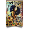 Black Girl Magic Poster - Black Queen Sunflower Poster - luxamz