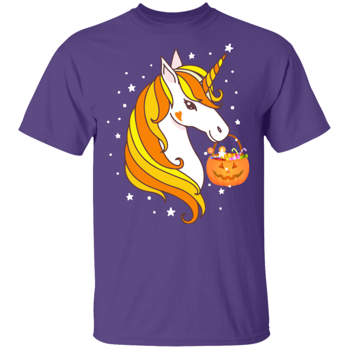 Cute Candy Corn Unicorn Halloween