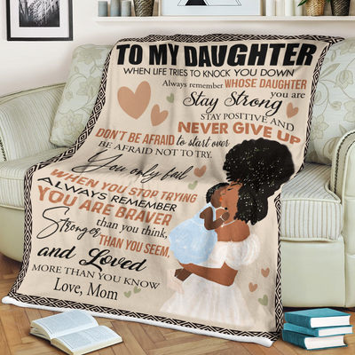 Personalized To My Daughter Big Love From Mom Blanket - luxamz