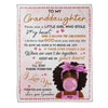 Personalized To My Granddaughter Keep Me In Your Heart Love From Grandma Blanket - luxamz