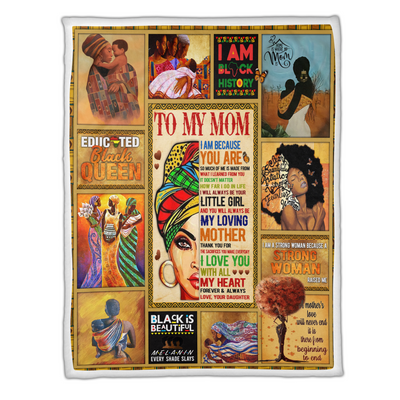 My Mom I Am A Strong Woman Blanket - luxamz