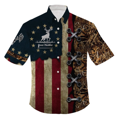 American deer hunting Baseball and Jersey Hawaii Shirt Clothing For Hot Summer