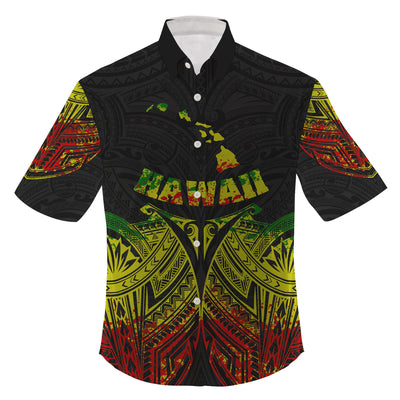 Hawaii polynesian reggae pride map and seal clothing for hot summer