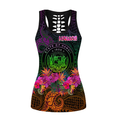 Hawaii island lover Combo tank-top and legging 3d all over print