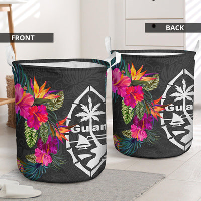 GUAM HIBISCUS PATTERN LAUNDRY BASKET ALL OVER PRINT - luxamz