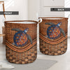 TURTLE RATTAN TEAXTURE LAUNDRY BASKET All Over Print