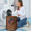TURTLE RATTAN TEAXTURE LAUNDRY BASKET All Over Print - luxamz