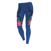 Samoa Polynesian Floral With Seal Blue legging 3d all over print