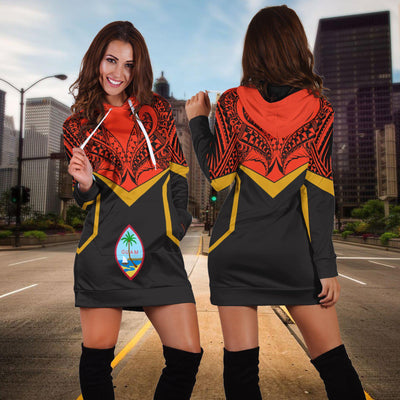 Guam Unisex Tribal Style Hoodie Dress