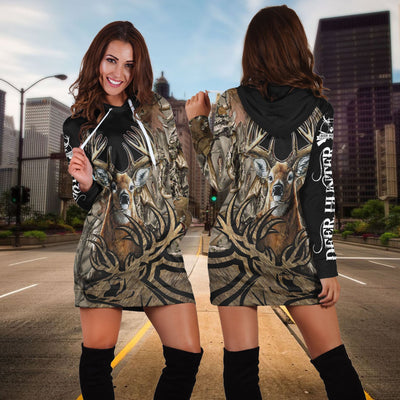 Spread stores Love Deer Hoodies Dress - luxamz