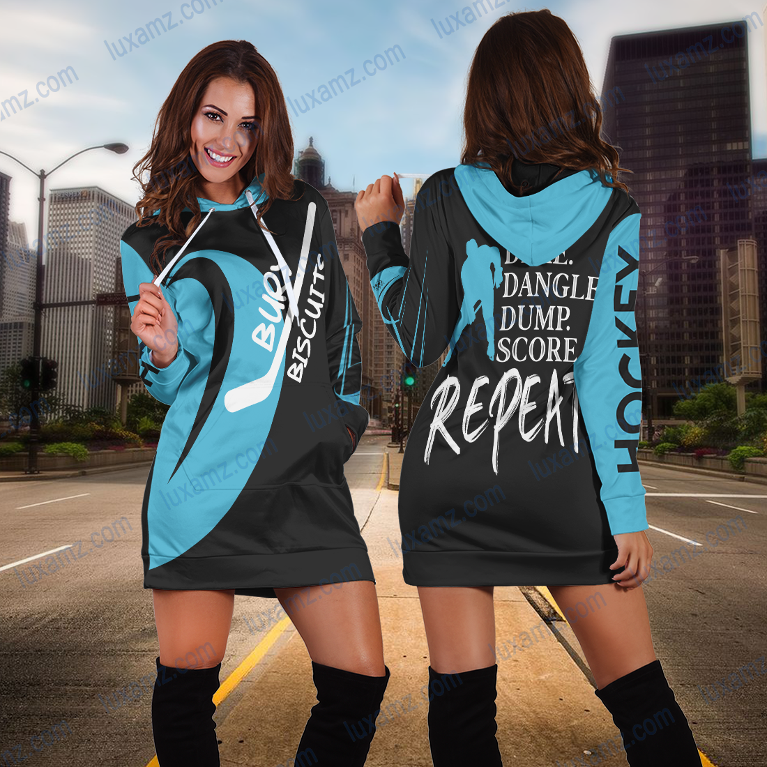 Men_s Hockey Hoodie Dress - luxamz