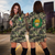 Tonga Sherpa Camo Hoodie Dress